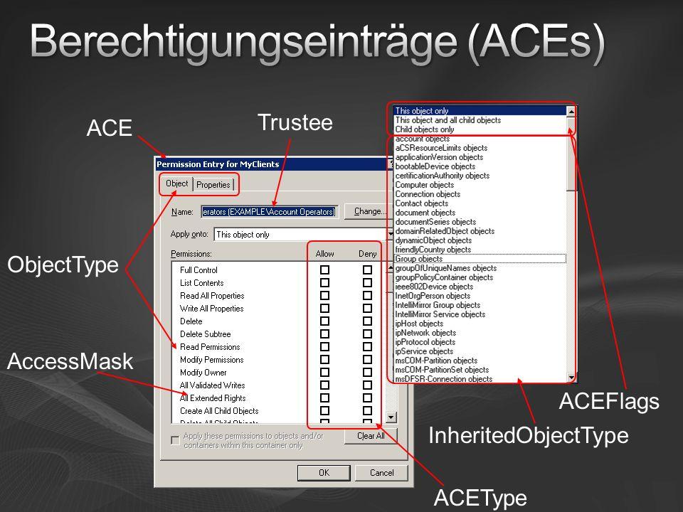 Berechtigungseinträge (ACEs)