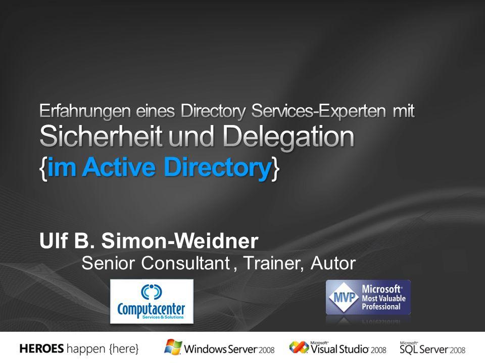 Ulf B. Simon-Weidner Senior Consultant , Trainer, Autor