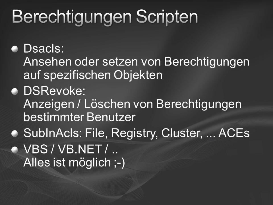 Berechtigungen Scripten