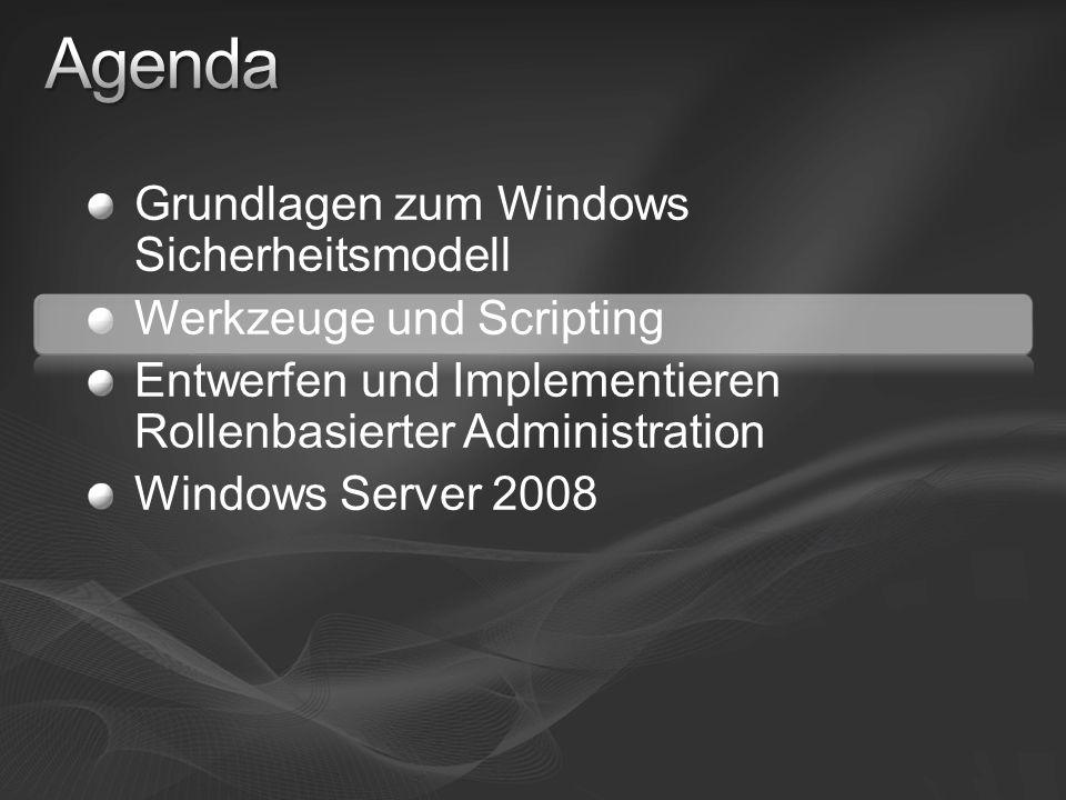 Agenda Grundlagen zum Windows Sicherheitsmodell