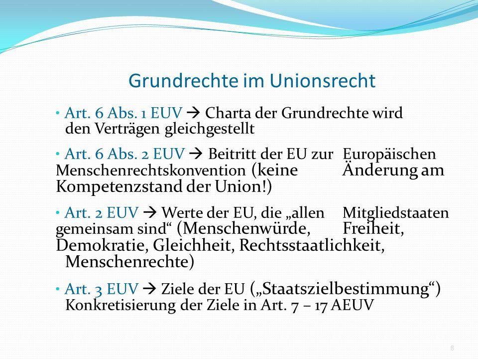 Grundrechte im Unionsrecht