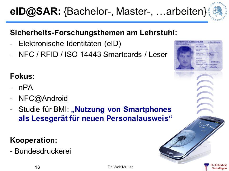 eID@SAR: {Bachelor-, Master-, …arbeiten}