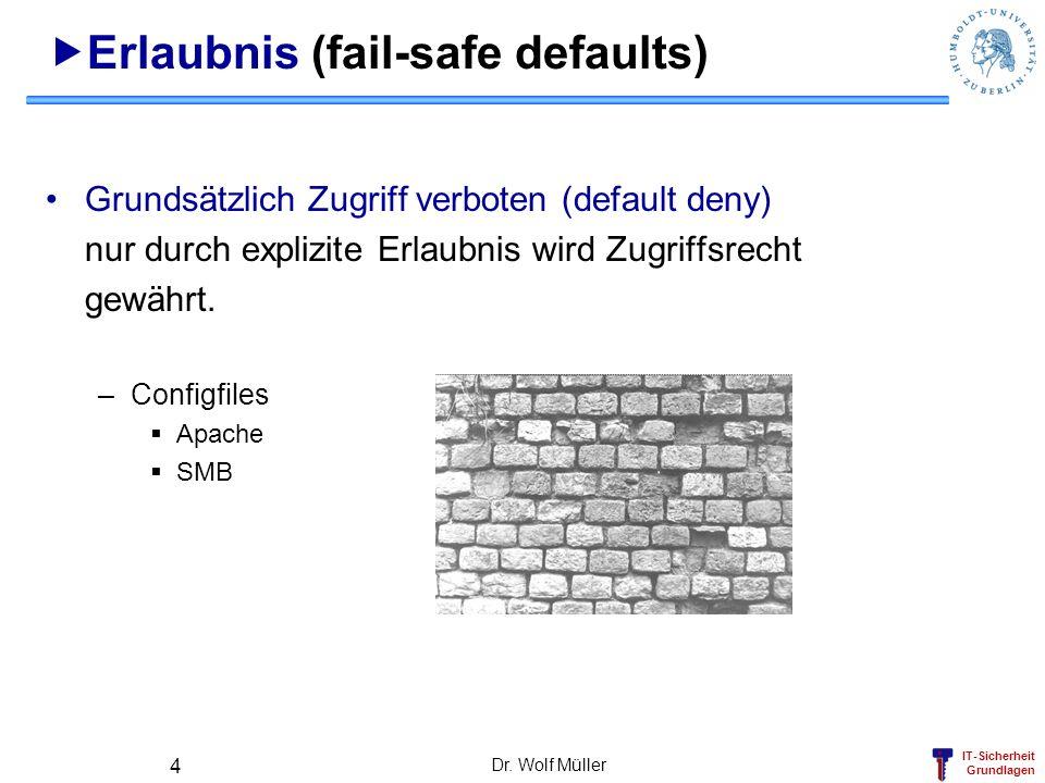 Erlaubnis (fail-safe defaults)