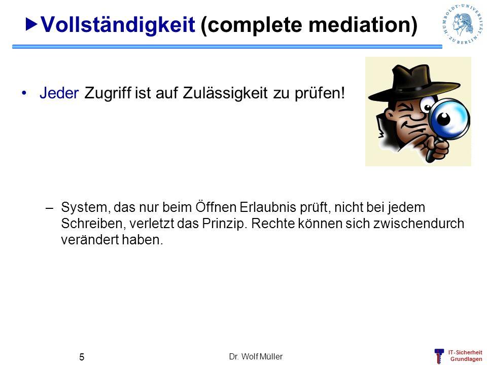 Vollständigkeit (complete mediation)