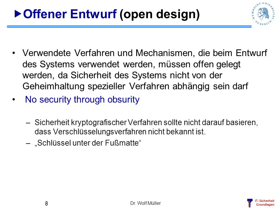 Offener Entwurf (open design)