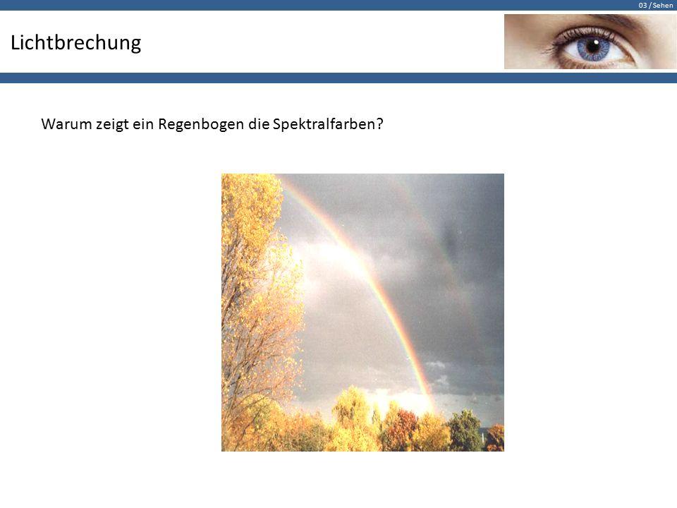 Lichtbrechung Warum zeigt ein Regenbogen die Spektralfarben