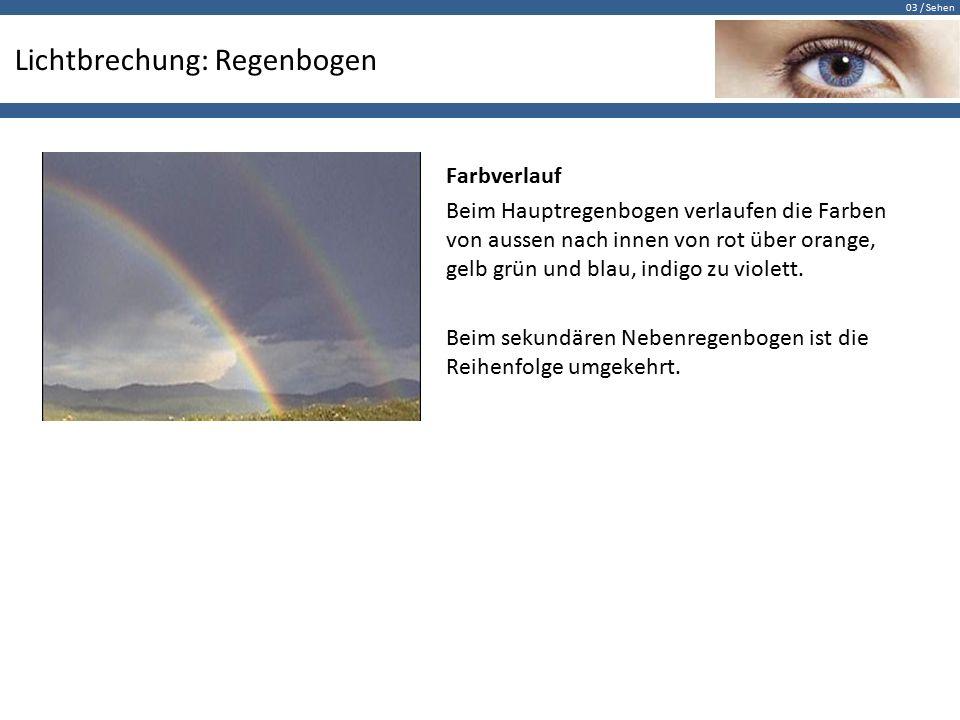 Lichtbrechung: Regenbogen