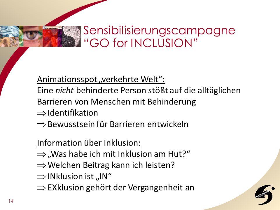 Sensibilisierungscampagne GO for INCLUSION