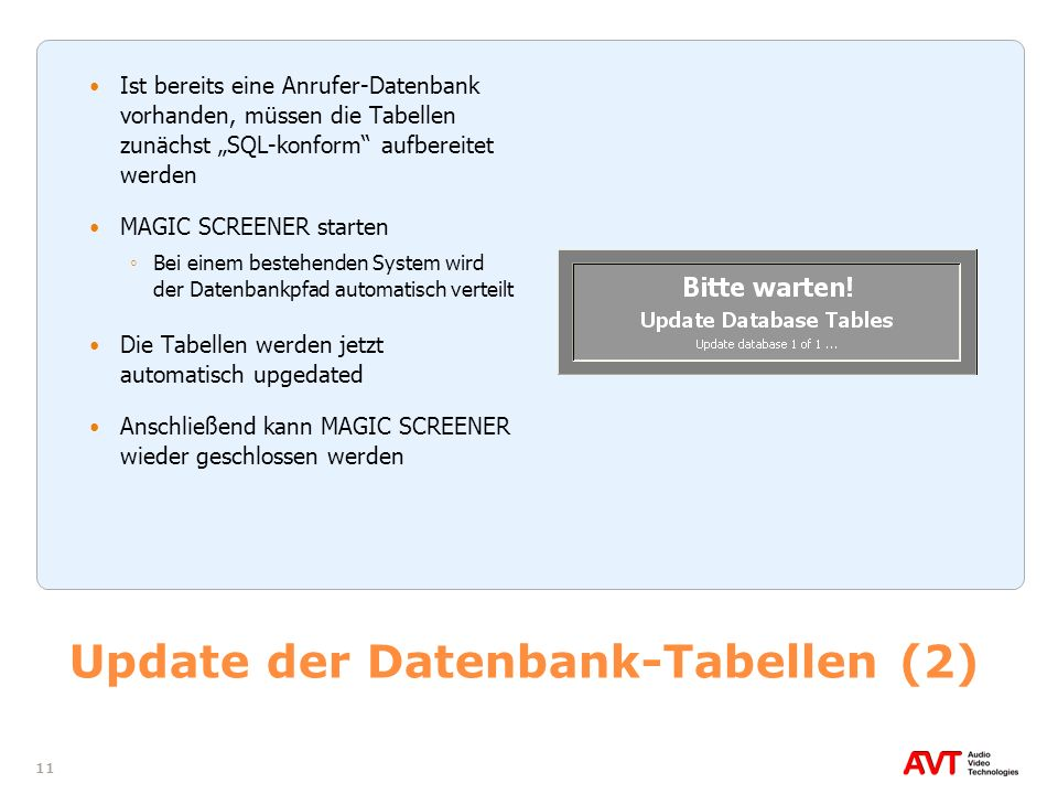 Update der Datenbank-Tabellen (2)