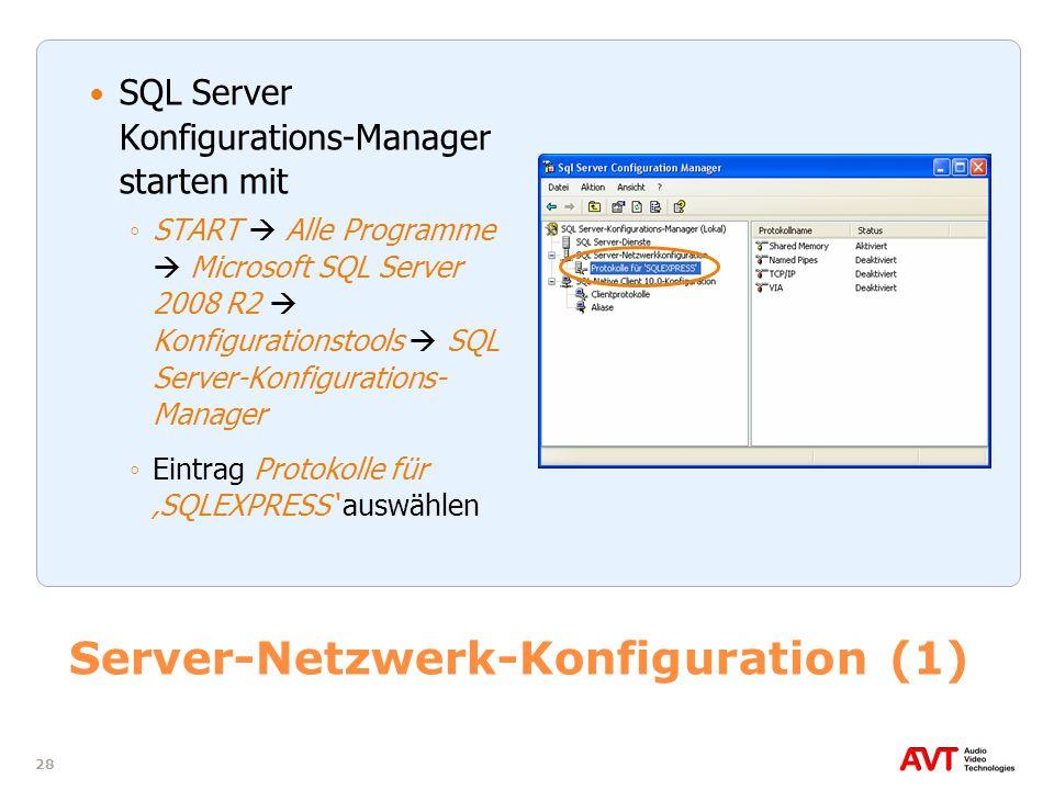 Server-Netzwerk-Konfiguration (1)