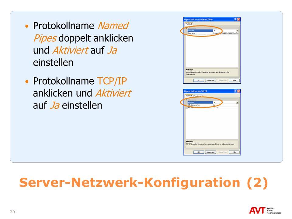Server-Netzwerk-Konfiguration (2)