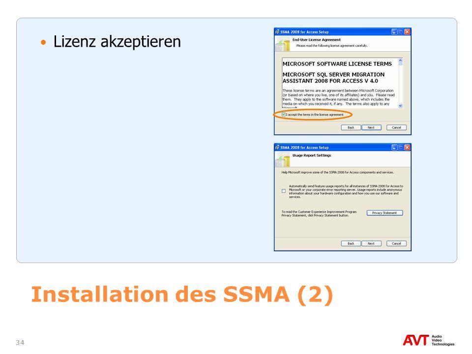 Installation des SSMA (2)