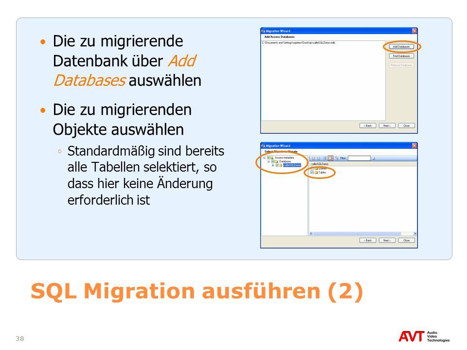 SQL Migration ausführen (2)