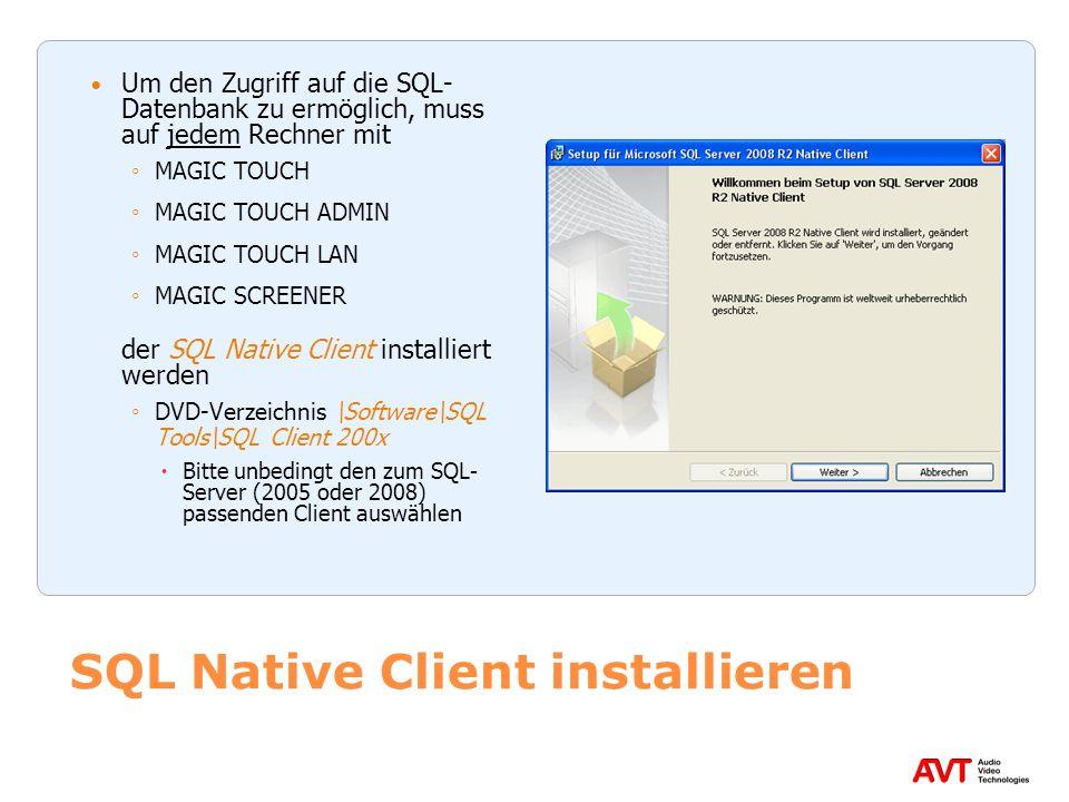 SQL Native Client installieren