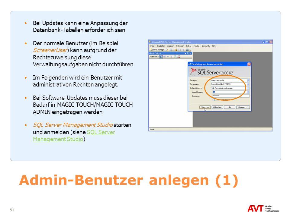 Admin-Benutzer anlegen (1)