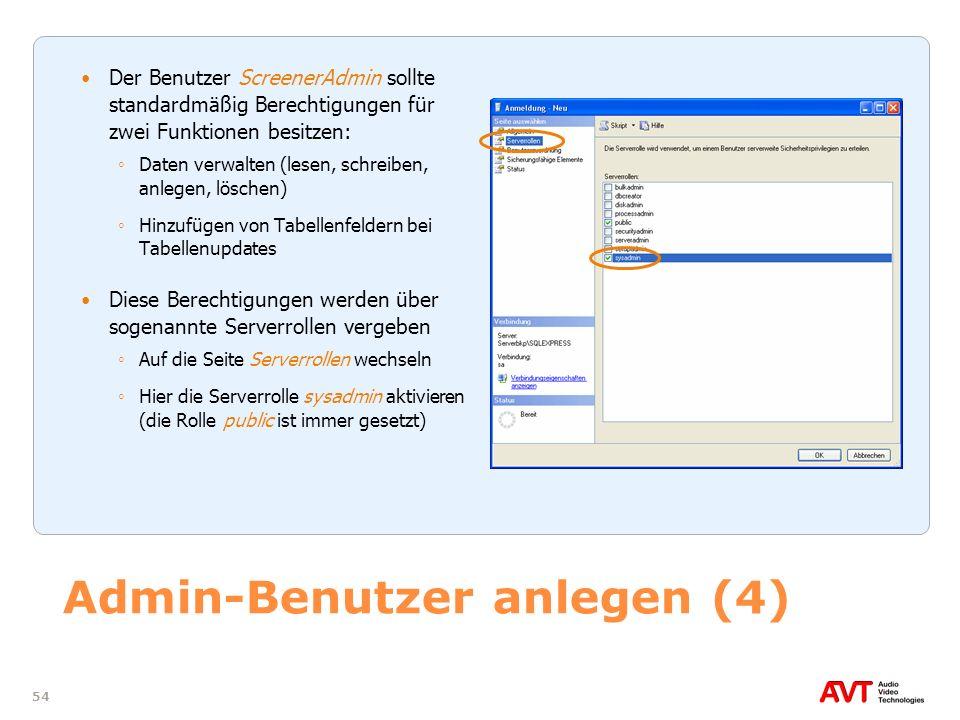 Admin-Benutzer anlegen (4)