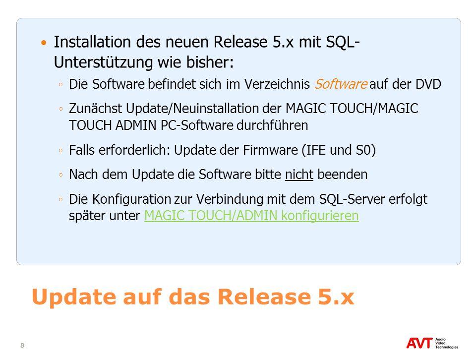 Update auf das Release 5.x