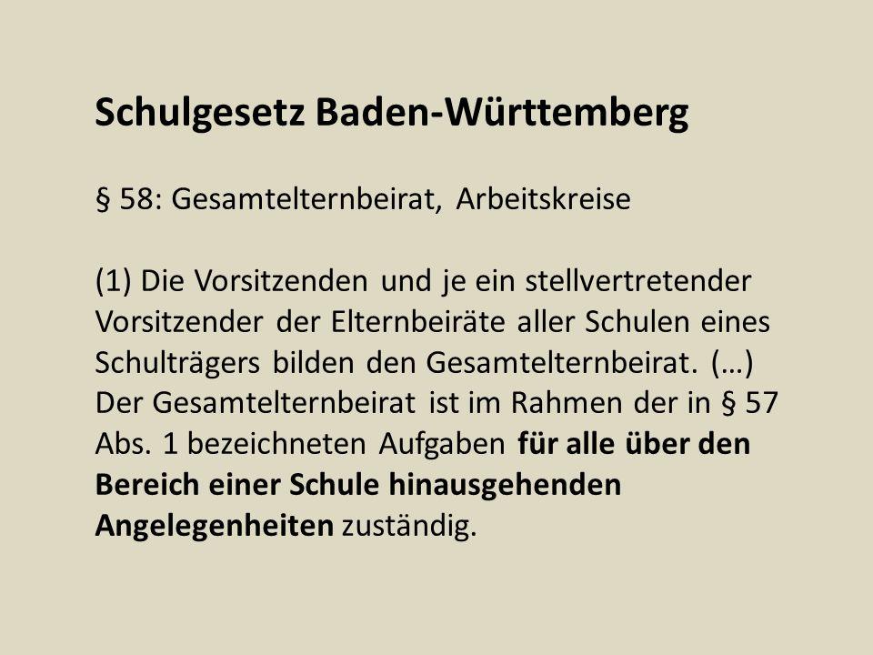 Schulgesetz Baden-Württemberg