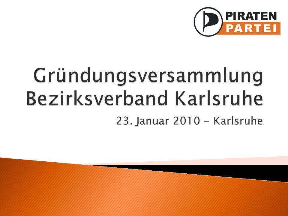 Gründungsversammlung Bezirksverband Karlsruhe