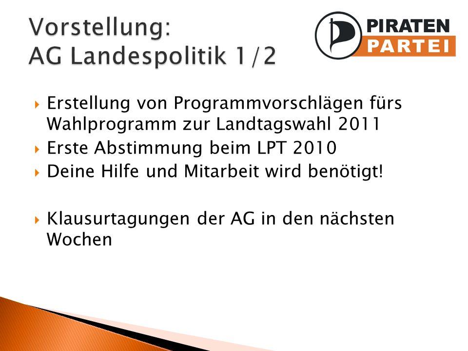 Vorstellung: AG Landespolitik 1/2