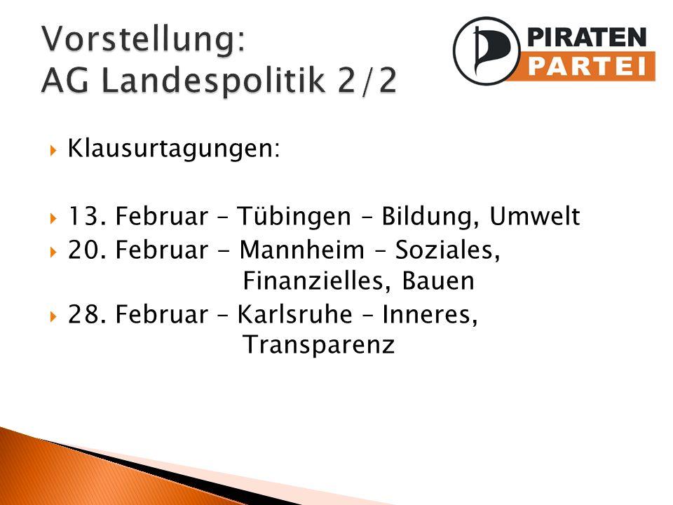 Vorstellung: AG Landespolitik 2/2