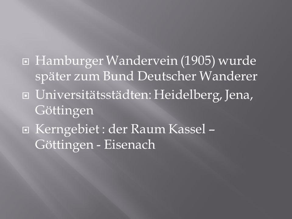 Hamburger Wandervein (1905) wurde später zum Bund Deutscher Wanderer