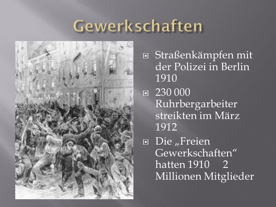 Gewerkschaften Straßenkämpfen mit der Polizei in Berlin 1910