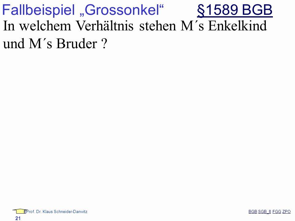 """Fallbeispiel """"Grossonkel §1589 BGB"""