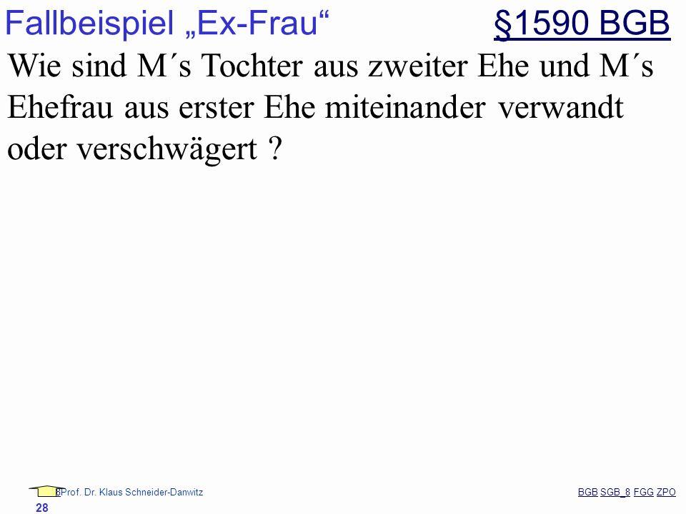 """Fallbeispiel """"Ex-Frau §1590 BGB"""