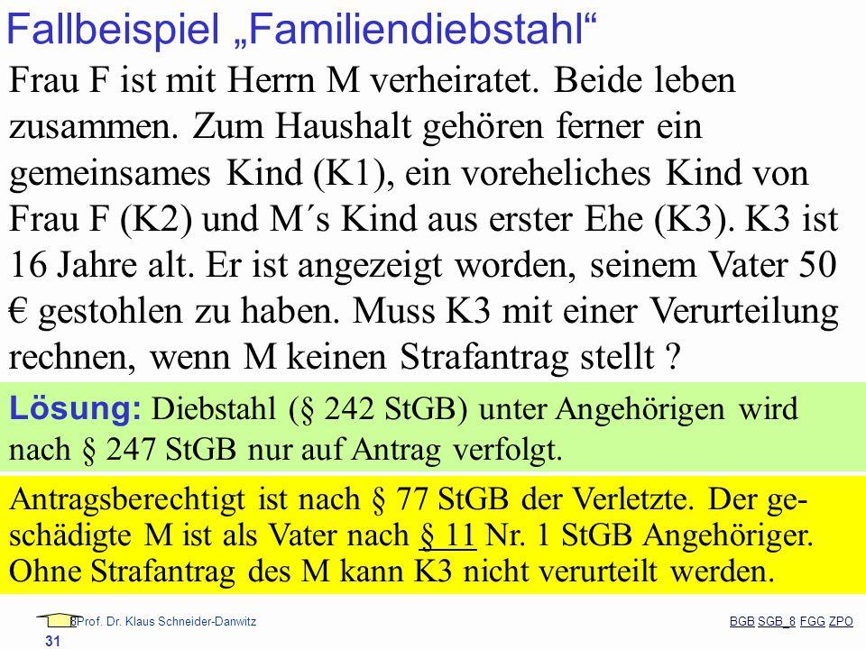 """Fallbeispiel """"Familiendiebstahl"""