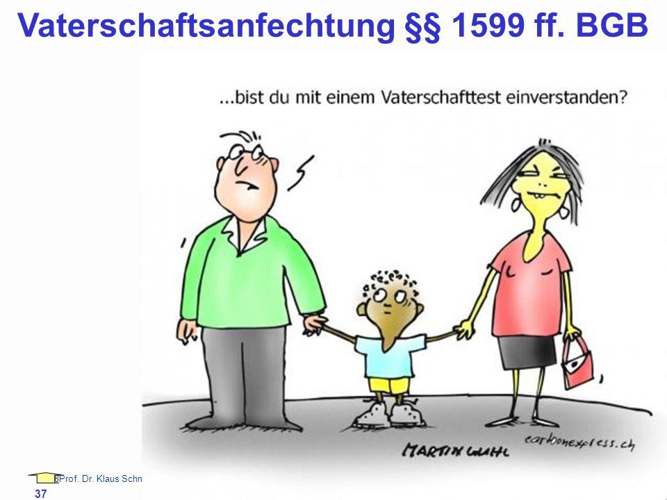 Vaterschaftsanfechtung §§ 1599 ff. BGB