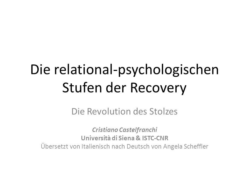 Die relational-psychologischen Stufen der Recovery