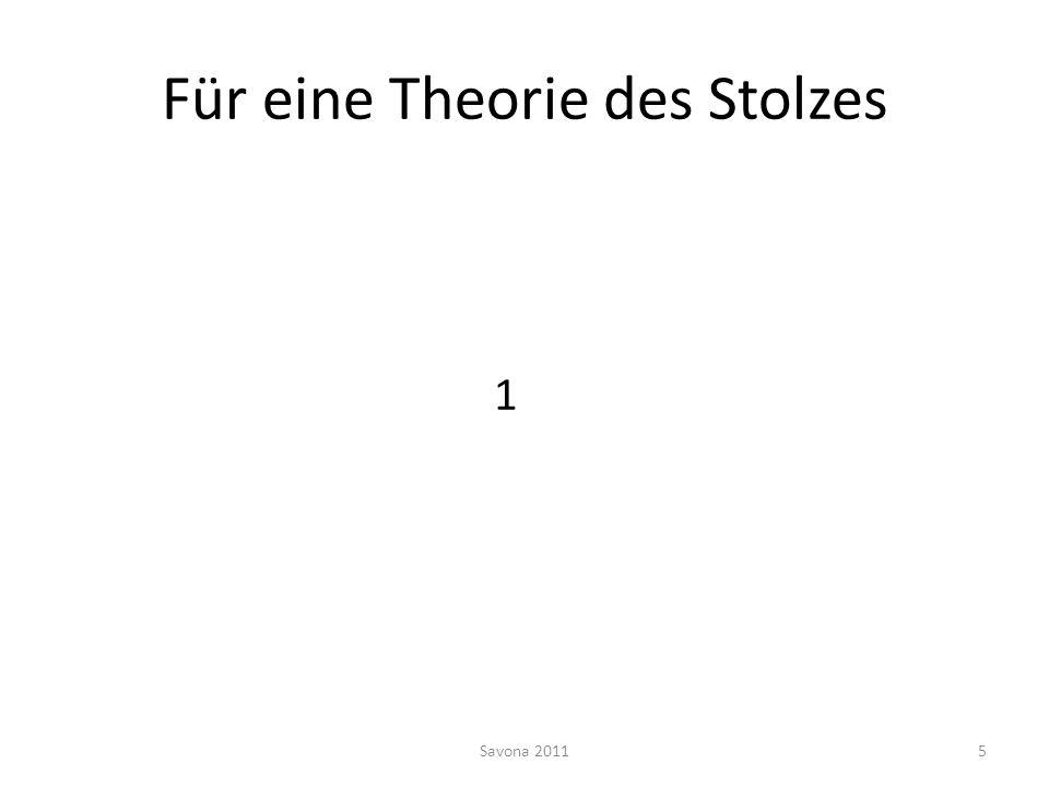 Für eine Theorie des Stolzes