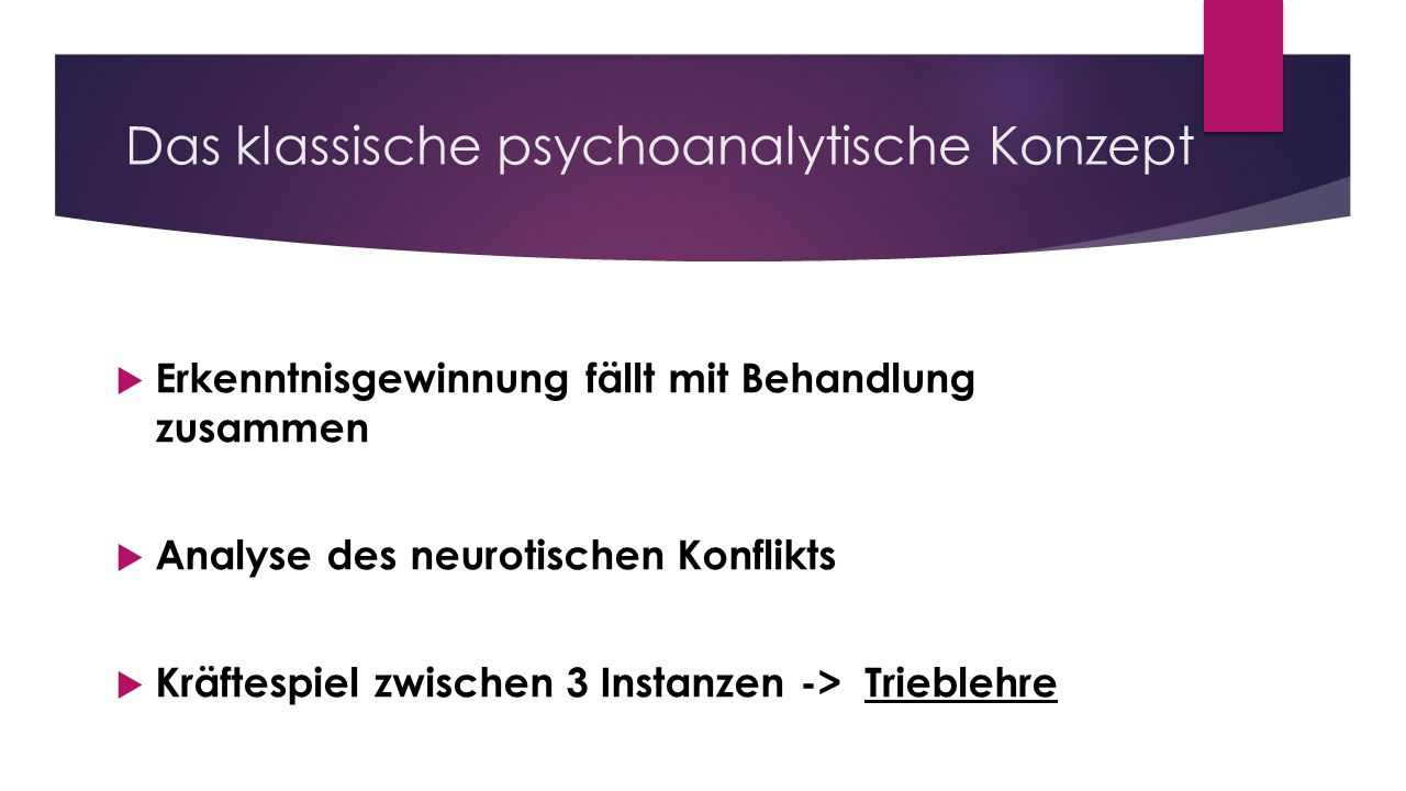Das klassische psychoanalytische Konzept