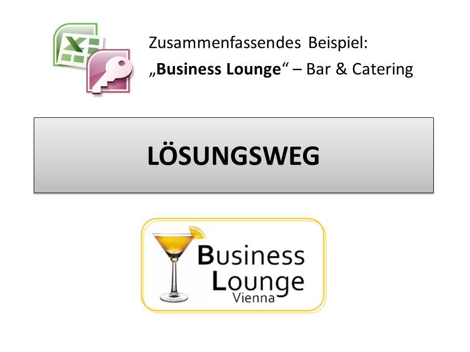 """Zusammenfassendes Beispiel: """"Business Lounge – Bar & Catering"""
