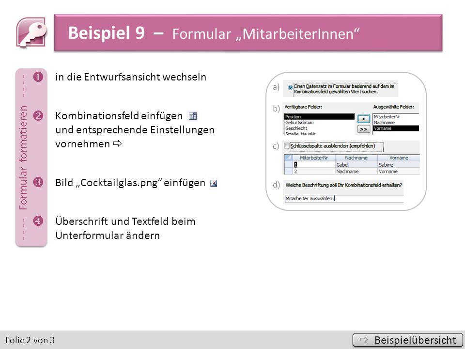 """Beispiel 9 – Formular """"MitarbeiterInnen"""