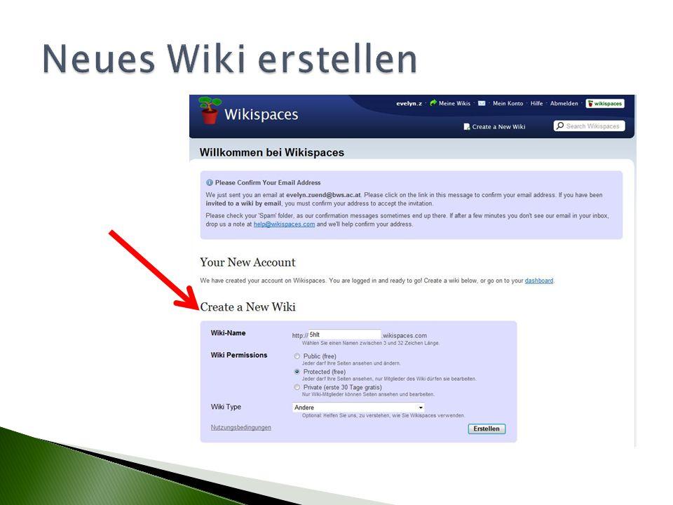 Neues Wiki erstellen