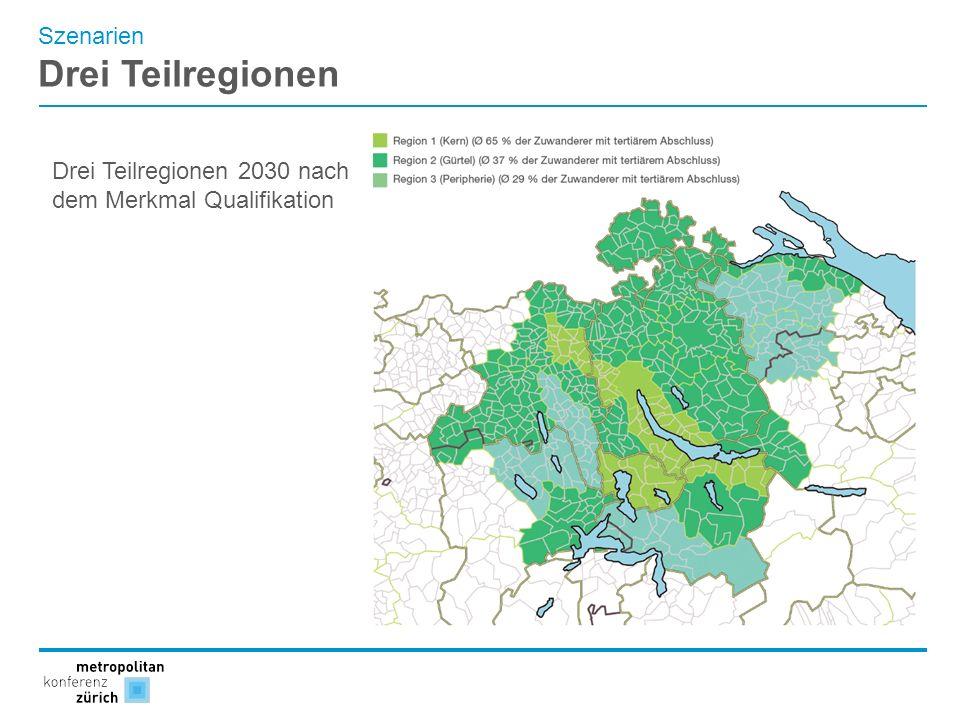 Drei Teilregionen Szenarien