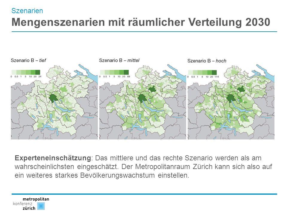 Mengenszenarien mit räumlicher Verteilung 2030