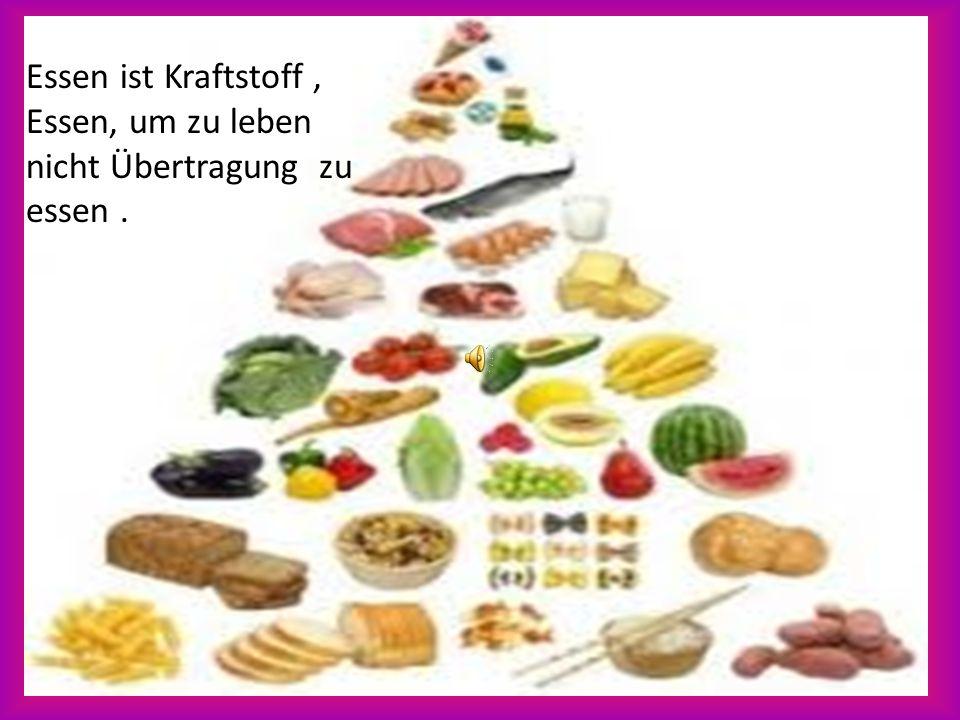 Essen ist Kraftstoff , Essen, um zu leben nicht Übertragung zu essen .
