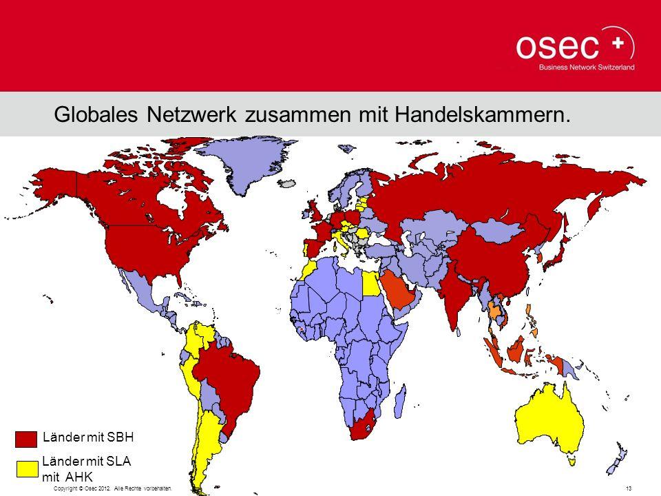 Globales Netzwerk zusammen mit Handelskammern.