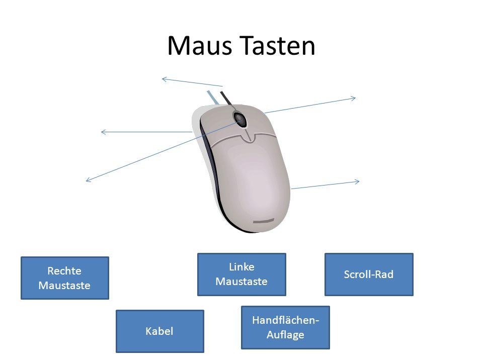 Maus Tasten Linke Maustaste Scroll-Rad Rechte Maustaste