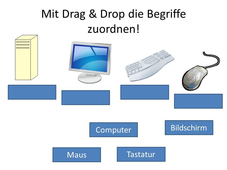 Mit Drag & Drop die Begriffe zuordnen!
