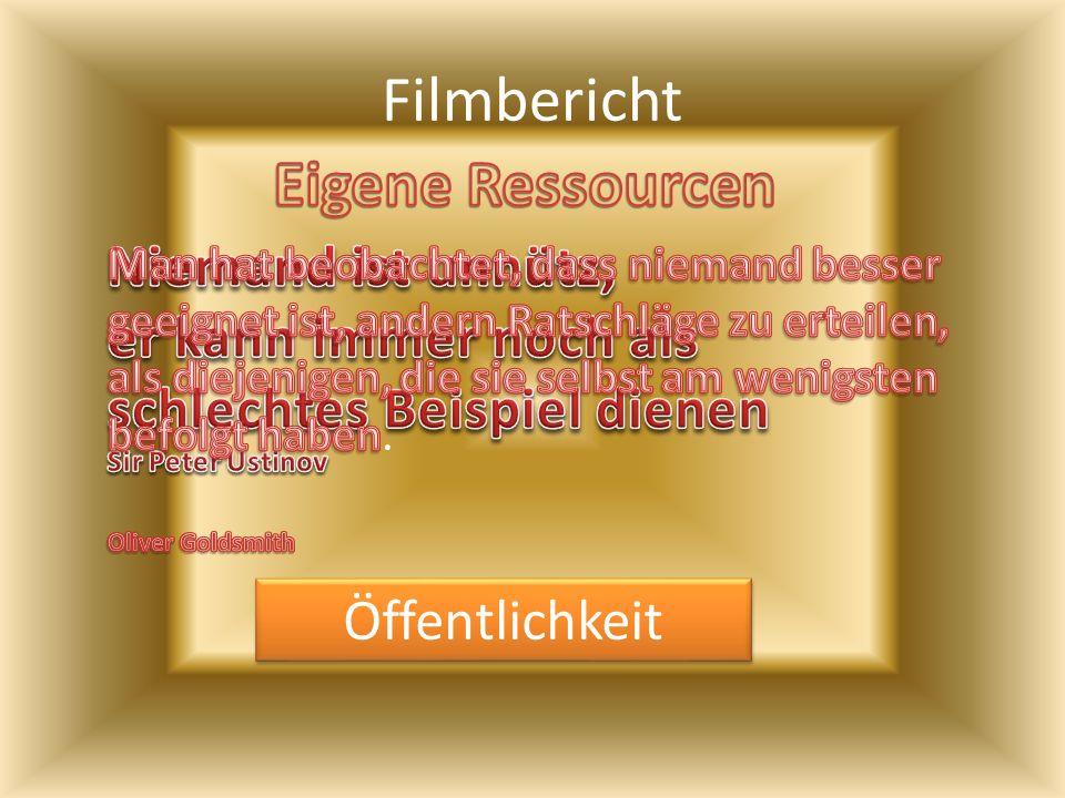Filmbericht Eigene Ressourcen