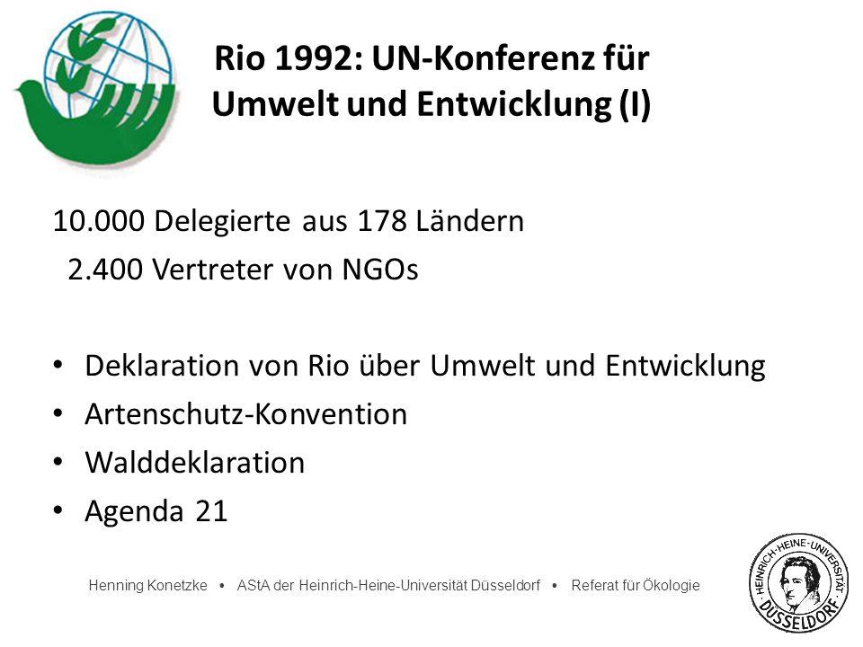 Rio 1992: UN-Konferenz für Umwelt und Entwicklung (I)