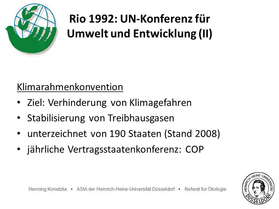 Rio 1992: UN-Konferenz für Umwelt und Entwicklung (II)