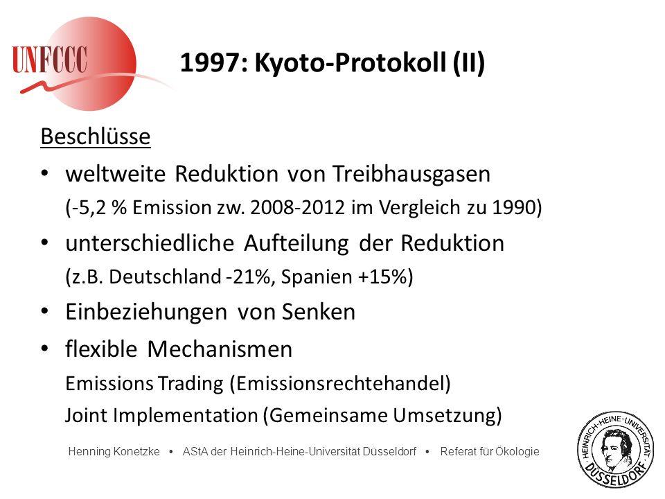 1997: Kyoto-Protokoll (II)