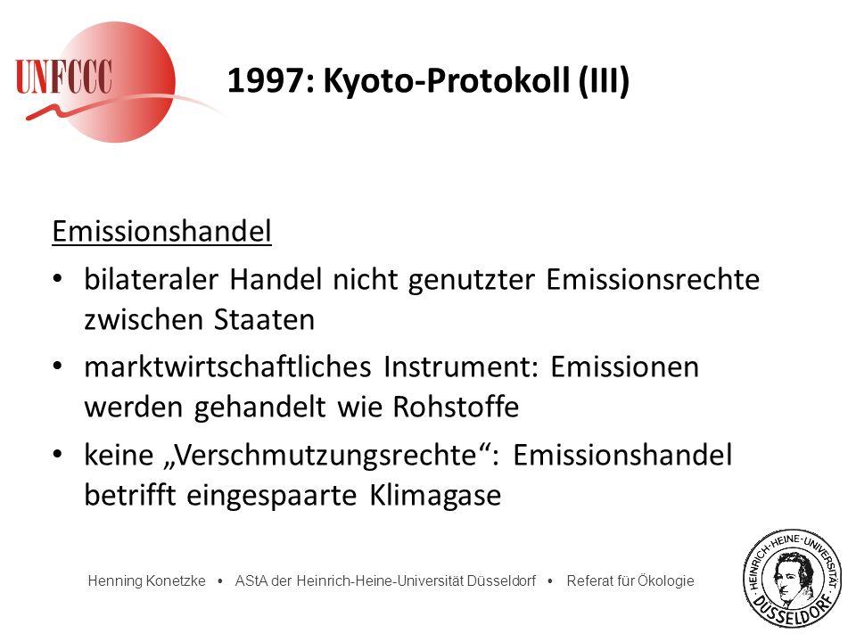 1997: Kyoto-Protokoll (III)