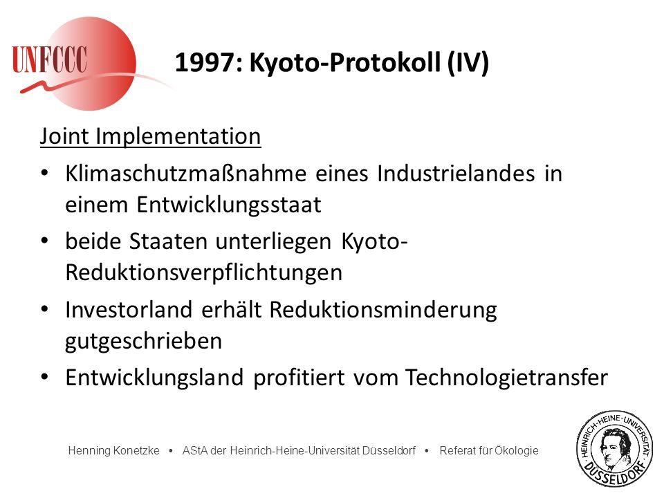 1997: Kyoto-Protokoll (IV)