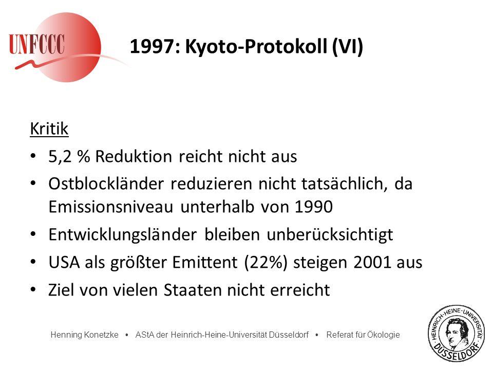 1997: Kyoto-Protokoll (VI)
